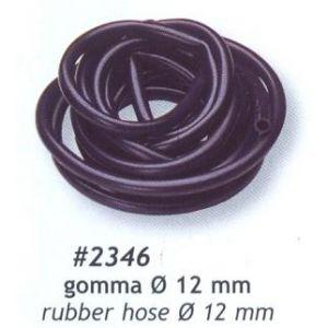 benzine slang rubber zwart diam. 12mm, lengte 5meters